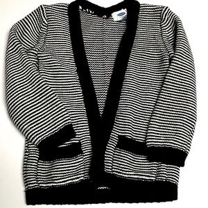 Old Navy Black Heavy Knit Cardigan Sweater 5T
